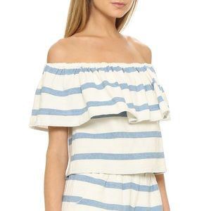 SALE❗️Mara Hoffman Off Shoulder Striped Top